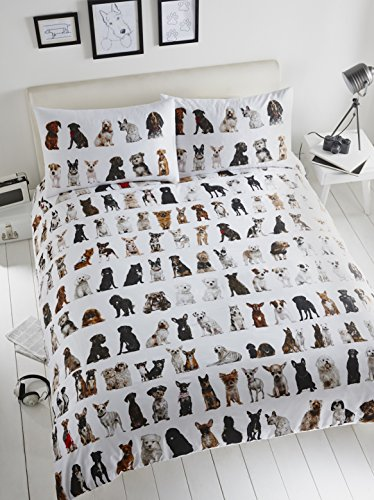 all-over-dogs-cute-puppy-print-white-quilt-duvet-cover-bedding-set-double