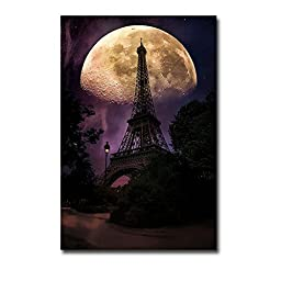 Moonlight in Paris by John Rivera Premium Oversize Gallery-Wrapped Canvas Giclee Art (Ready-to-Hang)