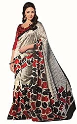 Monash Creations Ethnic Bollywood saree available with Unstiched Blouse Piece made of Art Silk Jacquard Fabric