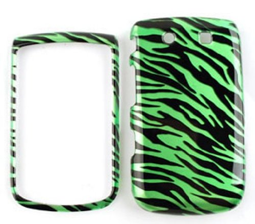 Blackberry Torch 9800 Transparent Design, Green Zebra Print Hard Case/Cover/Faceplate/Snap On/Housing/Protector (Torch 9800 Housing compare prices)