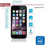 iPhone 6 Screen Protector,iPhone 6 Tempered glass screen protector.**New** Fashion [Clarity and Touchscreen Accuracy]HD Clear Glass Screen Protector,Clarity and Touchscreen,(Anti Fingerprint and Anti Scratch - Perfect Clarity and Touchscreen Functionality) ,0.3mm [Tempered Glass] Screen Protector Film,2.5D Edge 9H Hardness.Premium HD Clear Screen Protector,Anti-Glare Screen Protectors,Ultimate Premium Tempered Glass Screen Protector,Premium Tempered Glass Screen Protector for iPhone 6 4.7 inch 2014(NOT for iphone 6 Plus)- Protect Your Screen from Scratches and Drops