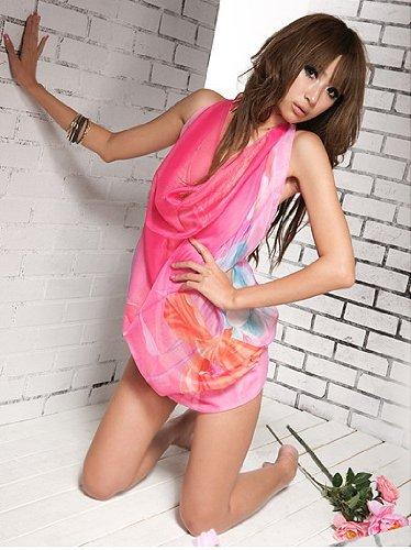 Tamari Pink Ladies Sarong Cover Up One Size