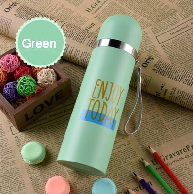 350ml (Turquoise) Creative Portable Thermos Flask cup stainless ...