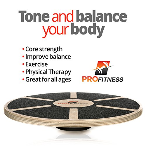 Balance Board Exercises For Back: ProFitness Wooden Balance Board (15.5-inch By 3.1-inch