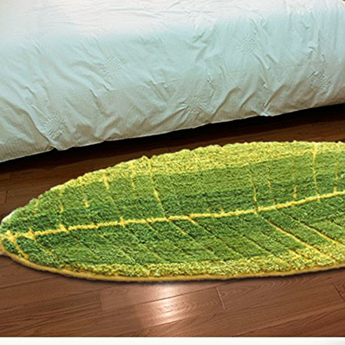 E.a@market Fashion Leaf Bedroom Floor Mats Door Mat Environmental Protection Mat