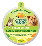 Citrus Magic Pet Odor Absorbing Solid Air Freshener, Fresh Citrus, 8-Ounce