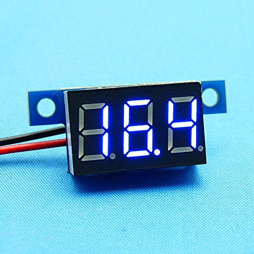 Vakind New Direct Current Dc 0.36Inch Led Digital Display Voltmeter Panel (Blue, 3.0V-30V)
