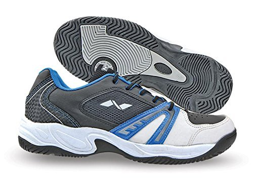 Nivia Energy Tennis Shoes, Men's 11 UK (White/Black/Blue)  available at amazon for Rs.1591