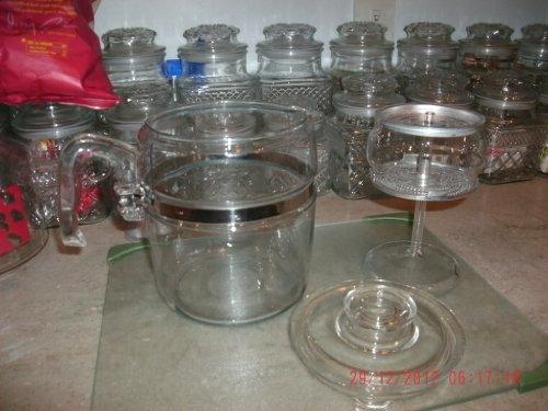 VINTAGE Pyrex Flameware 9 cup Coffee Pot Percolator Complete