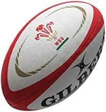 Wales Official Replica Rugby Ball White/Red - size 5