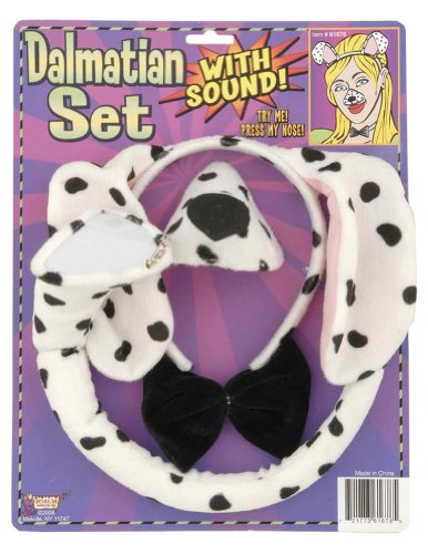 Costume-Accessory Dalmation Sound Set Halloween Costume Item - One Size Fits Most