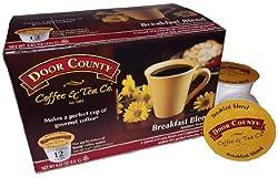 Door County Coffee Single Serve Cups for Keurig Brewers (Breakfast Blend, 36 Count)