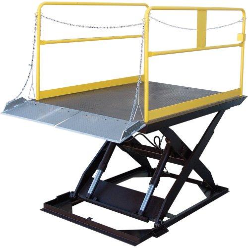 Vestil Scissor Dock Lift - Electric/Hydraulic, 10,000-Lb. Capacity, 144In.L X 84In.W Platform, Model# Wl-100-10-712