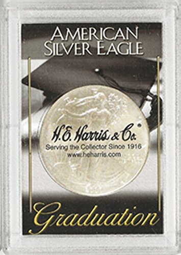 Harris 2x3 Graduation Holder- SILVER EAGLES - 1