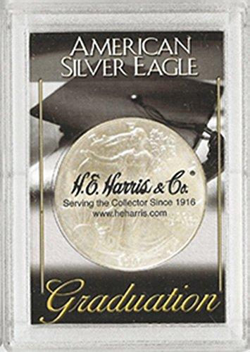 Harris 2x3 Graduation Holder- SILVER EAGLES - 1