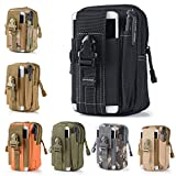 Efanr Universal Outdoor Tactical Holster Military Molle Hip Waist Belt Bag Wallet Pouch Purse Phone Case with Zipper for iPhone 7 6s Plus 5S Samsung Galaxy S7 S6 LG HTC and More (Black)