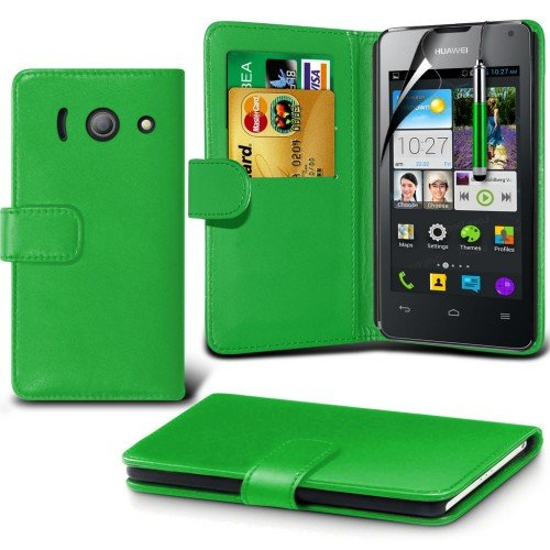 huawei-ascend-y300-leather-wallet-case-cover-greenplus-free-gift-screen-protector-and-a-stylus-pen-o