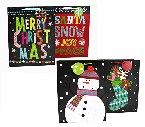 Christmas Gift Bags X-Large Chalk 8 Pack