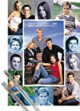 Poster + Hanger: Dawson's Creek Poster (39x28 inches) Collage and 1 set of 1art1® Poster Hangers