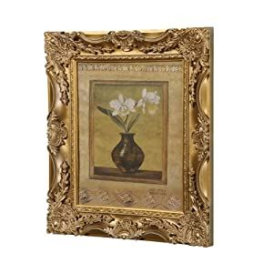 """Budget 3D French Baroque Gild Style Photo Frame, 10"""" x 12"""", Available in 3 Colours (Gold)"""