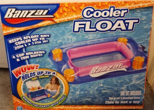 Banzai Swimming Pool Ice Chest Cooler Float - 1