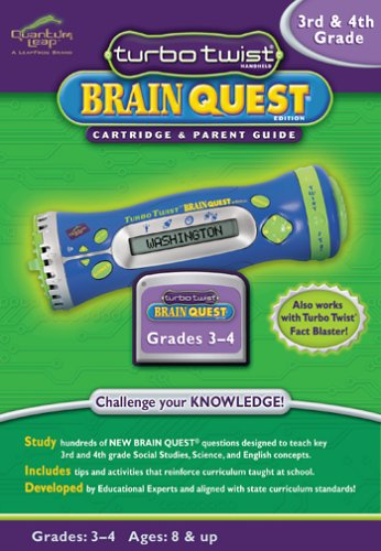 LeapFrog: Turbo Twist Brain Quest Cartridge and Parent Guide - 3rd and 4th Grade - Buy LeapFrog: Turbo Twist Brain Quest Cartridge and Parent Guide - 3rd and 4th Grade - Purchase LeapFrog: Turbo Twist Brain Quest Cartridge and Parent Guide - 3rd and 4th Grade (LeapFrog, Toys & Games,Categories,Electronics for Kids,Learning & Education,Toys)