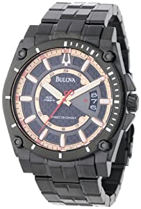 (大气)Bulova宝路华男式腕表 98B143 深灰色表盘 $350.22