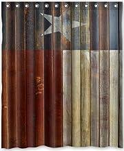 Special Design Western texas Star Waterproof Bathroom Fabric Shower CurtainBathroom decor 60quot x 7