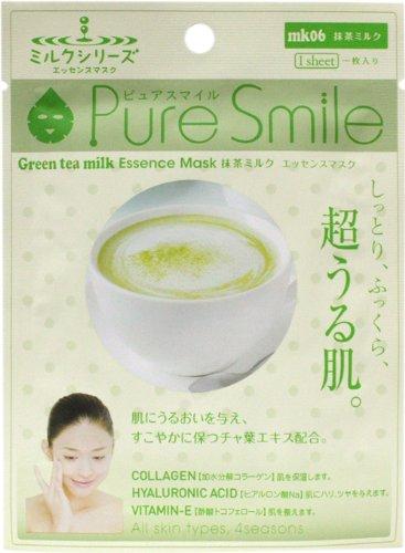 ピュアスマイルエッセンスマスクミルクシリーズ 抹茶ミルク20枚セット