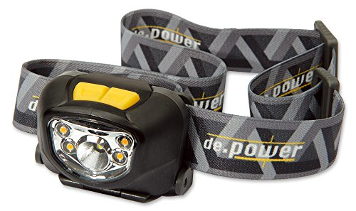 De.Power Led Headlamp Dp-801Aaa-C, Cool Wh. Spot Light 181 Lm (Ansi), 140° Wide Angle Warm White Ambient Light, Dimmable, 3Xaaa Lr03