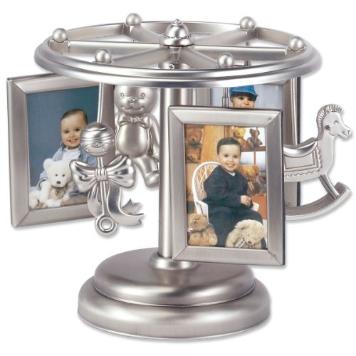 Lawrence Frames Baby Frame-Go-Round Multi 2x3 Picture Frame - Wind Up Design (Silver Baby Frame compare prices)