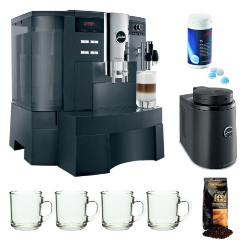 Capresso Jura Impressa Xs90 One Touch Automatic Coffee Center Refurbished + Jura Cool Control Basic 34 Oz. Temperature Controlled Milk Container + 25-Pack Coffee Machine Cleaning Tablets + Accessory Kit front-618088