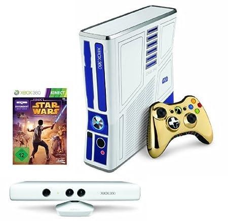 Xbox 360 - Konsole Slim 320 GB inkl. Kinect Sensor + Kinect Star Wars, weiß (Limited Edition)