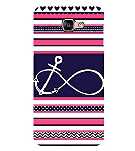 Infinity Anchor 2D Hard Polycarbonate Designer Back Case Cover for Samsung Galaxy A8 :: Samsung Galaxy A9 (2016) Duos with dual-SIM card slot