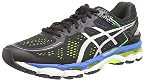 Asics Gel-kayano 22, Chaussures de Running Entrainement Homme - Noir (Black/Silver/Flash Yellow 9093) - 39.5 EU (Taille Fabricant : 5.5 UK)