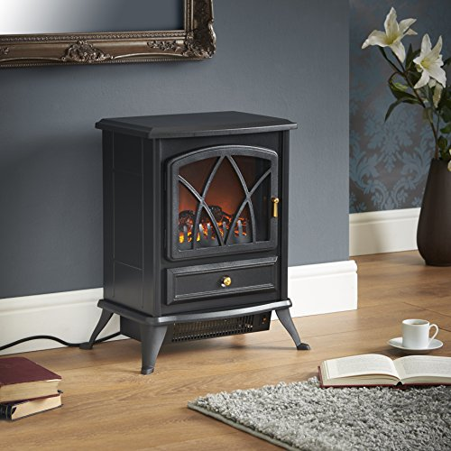 Electric Fireplace Space Heater Portable Free Standing Stove Realistic Indoor Ebay