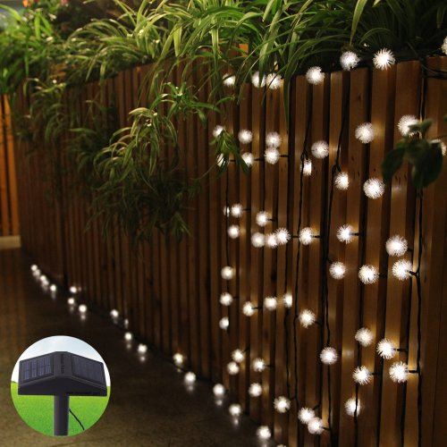 Buscar innootech blanco c lido led navidad solar guirnalda for Luces colgantes para jardin