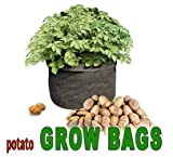 Potato Grow Bags Made of Double Layered Felt Like Fabric. 18 Inches in Diameter 14 Inches High. Fabric Allows Air to Circulate Around Roots. Two (2) Bags in This Package.