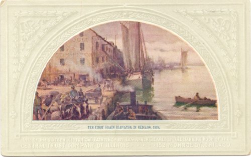 1900 Vintage Postcard - Historical Painting by