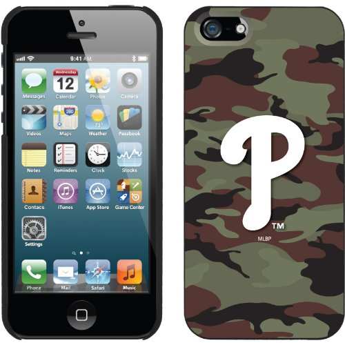 Great Sale Philadelphia Phillies - Traditional Camo design on a Black iPhone 5 Thinshield Snap-On Case by Coveroo