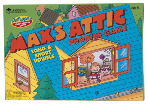 Max's Attic Phonic Game: Long and Short Vowels - 1