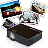 Black Friday New UC40 Pro Projector , ODGear Mini Portable LCD LED Home Theater Cinema Game Projector , Business projector HD 1080P HDMI VGA USB Play