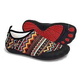 Rlok Men Women Barefoot Water Shoes 3.0 (7.5-8.5 US Women / 6.5-7 US Men, BohemianRed)
