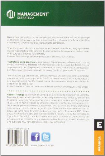 Estrategia En La Practica George Tovstiga Ediciones