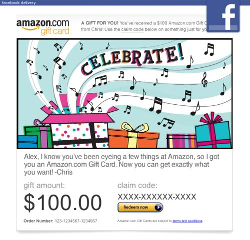 Amazon Gift Card – Facebook – Celebrate