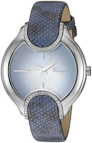 Salvatore-Ferragamo-Womens-Signature-Quartz-Stainless-Steel-and-Leather-Casual-Watch-ColorBlue-Model-FIZ040015