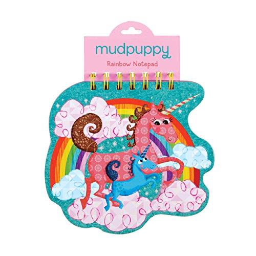 Mudpuppy Unicorns Rainbow Notepad