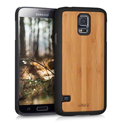 kalibri-Schutzhlle-aus-Holz-fr-Samsung-Galaxy-S5-S5-Neo-S5-Duos-Premium-Echtholz-Case-Cover-mit-Kunststoff-in-Beige