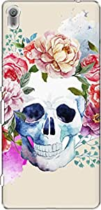 The Racoon Lean Pale Watercolor Skull hard plastic printed back case/cover for Sony Xperia XA Ultra