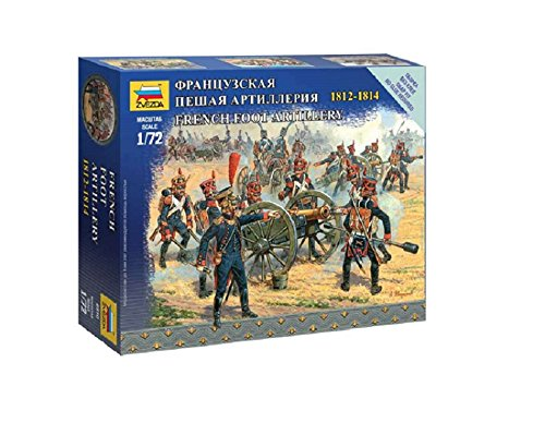 Zvezda Models 1/72 French Foot Artillery Napoleonic Wars Model Kit - 1